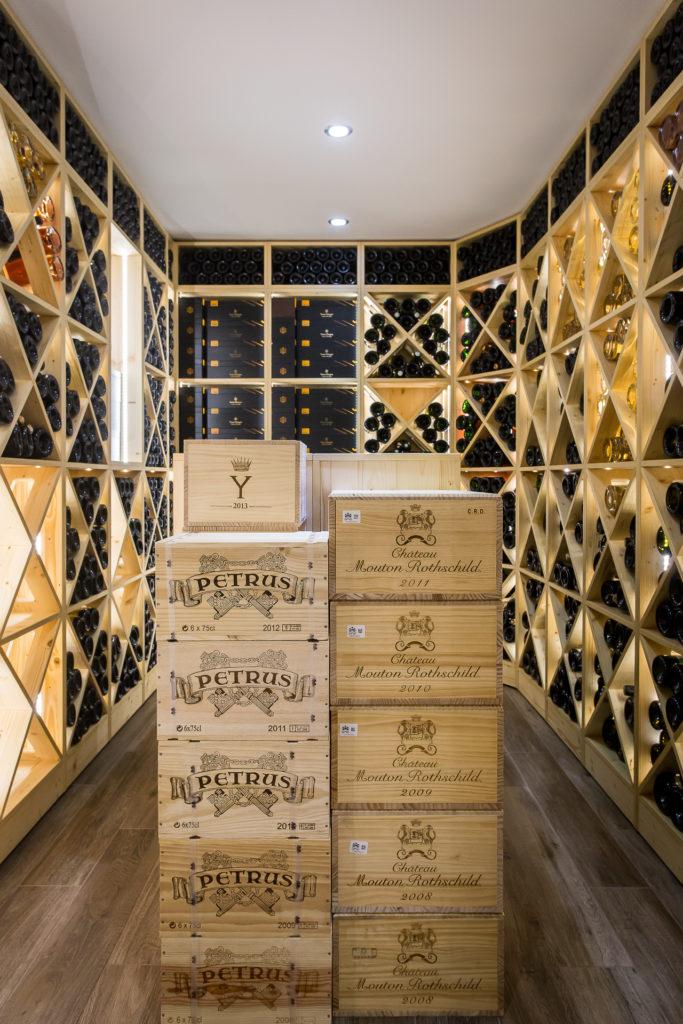 Cave à vin sur-mesure dans une villa à Ambert