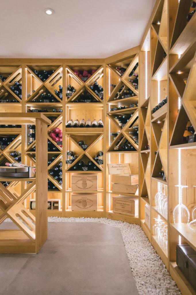 Cave à vin sur mesure dans un chalet à Evian-les-Bains - 74