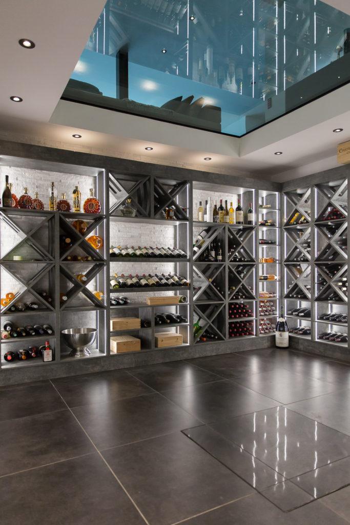 Cave à vin sur mesure dans une villa à Ballainvilliers - 91