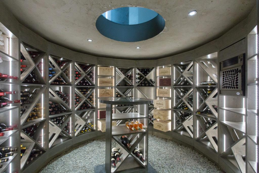 Cave à vin sur-mesure dans une villa à Rouen